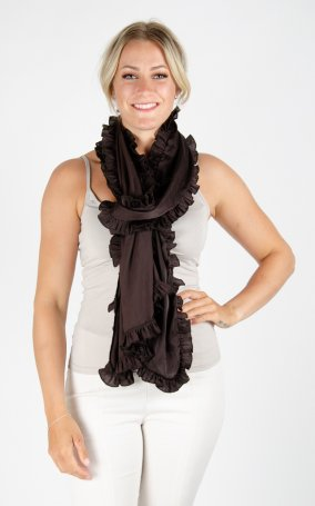 Scarf Soft Shiny - Dark Brown