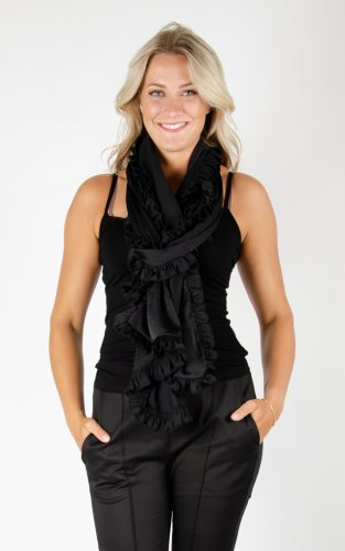 Scarf Soft Shiny - Black