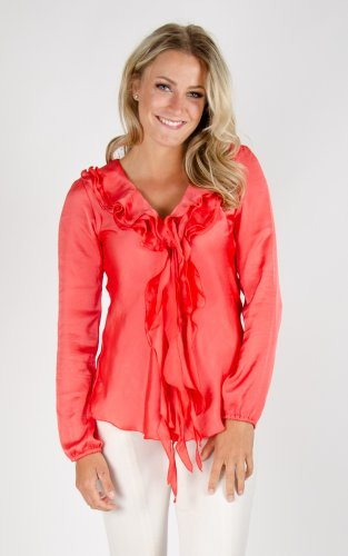 Bella Short Soft Shiny - Coral